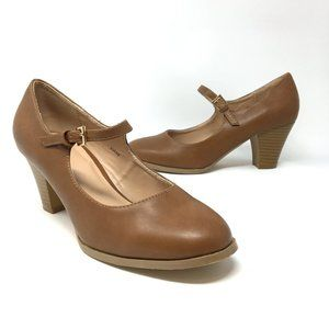 Journee Collection Jamie Mary Jane Brown Pumps 8.5
